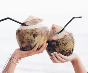coconut, drink, and summer image