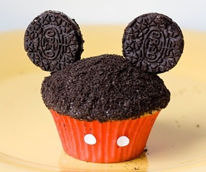 cupcake, mickey, and disney image