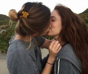 girl, lesbian, and love image