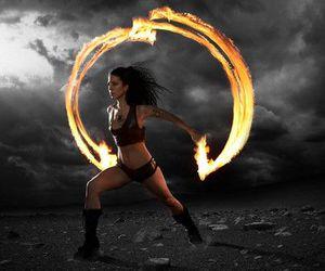fire dancer image