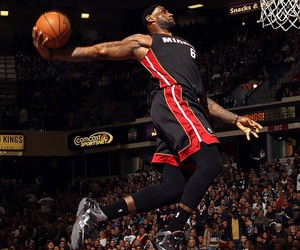 dunk, jump, and lebron image