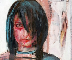 art, arte, and black hair image