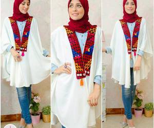hijab fashion look image