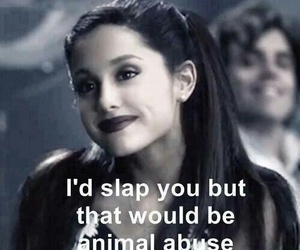 ariana grande, slap, and funny image