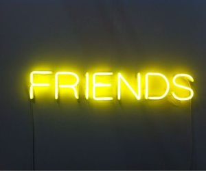 friends, yellow, and light image