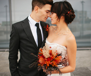 couple, wedding, and love image