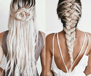 long, white, and hair color image