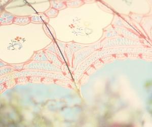 umbrella, pink, and pastel image