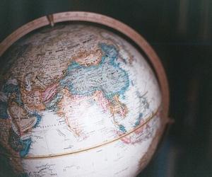 world, travel, and globe image
