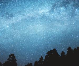 stars, blue, and light image