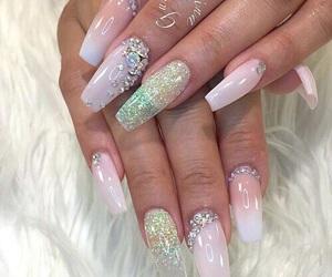nails, acrylics, and girly things image