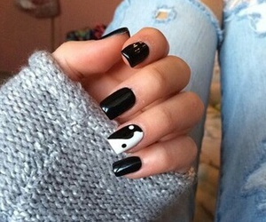 black, jeans, and nails image