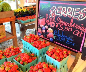 strawberry, berries, and food image
