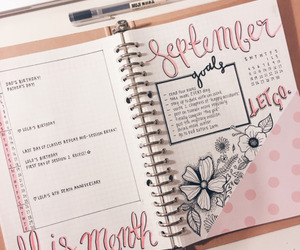 bullet journal, journal, and planner image