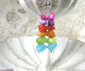 earrings, etsy, and multicolored image
