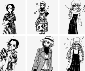 Ai Yazawa, anime girl, and black&white image