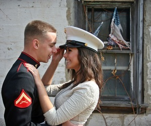 couple, Marines, and military image