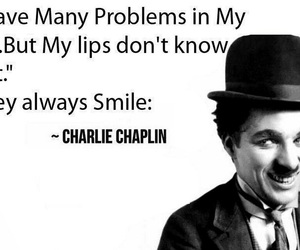 smile, charlie chaplin, and quotes image