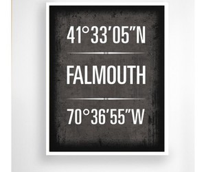 falmouth, massachusetts, and geographic coordinate image
