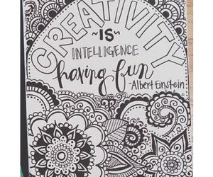 Albert Einstein, boho, and creativity image