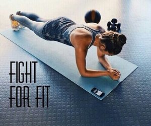 abs, motivation, and plank image