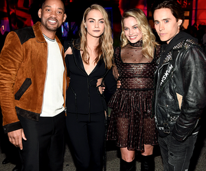 jared leto, margot robbie, and will smith image