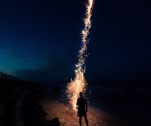 fireworks, night, and dark image