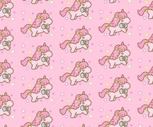 pattern, unicorn, and pink image