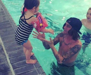 copeland, daughter, and pool image