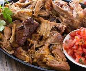 dinner, mexican food, and pork image