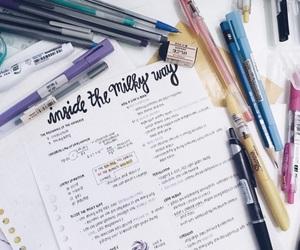 notebook, pen, and school image