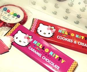 hello kitty, pink, and candy image
