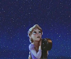 disney, rapunzel, and stars image