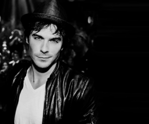 black and white and ian somerhalder image