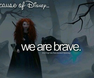 brave, disney, and because of disney image