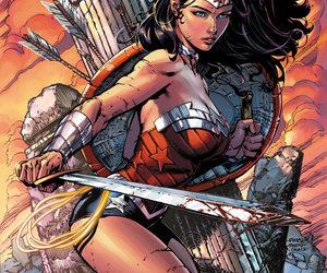wonder woman, DC, and comic image