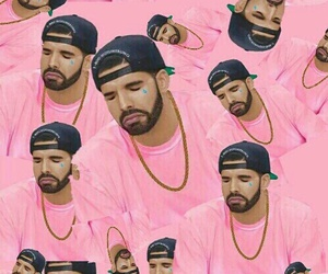 Drake, pink, and wallpaper image