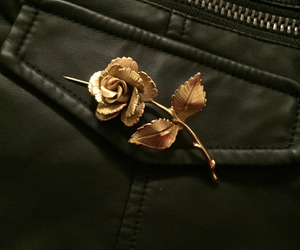 gold, pins, and rose image