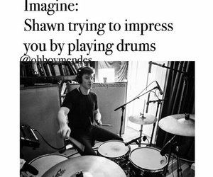 drum, shawn mendes imagine, and black+and+white image
