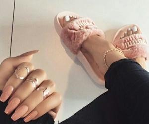 nails, puma, and girl image