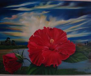 paint, flower, and cayena image