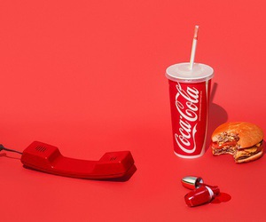 red, aesthetic, and coca cola image