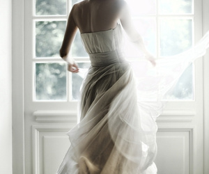 dress, wedding, and glamour image