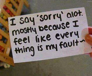 sorry, sad, and quote image