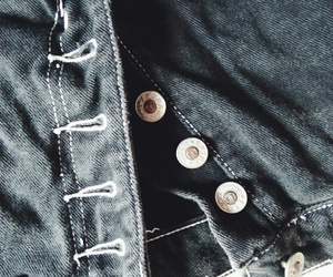 buttons, fashion, and jeans image
