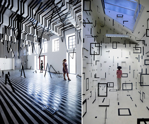 Esther Stocker and geometric rooms image
