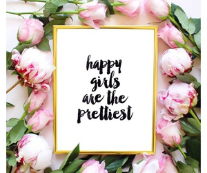flowers, girlish, and happy image