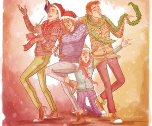 harry potter, weasley, and christmas image