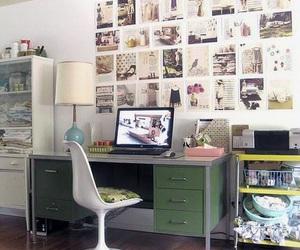 desk, room, and vintage image