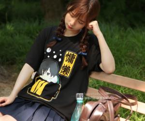 style, anime fashion, and t-shirt image